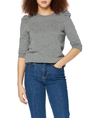 edc by ESPRIT Damen 110CC1J312 Sweatshirts, 019/GUNMETAL 5, L