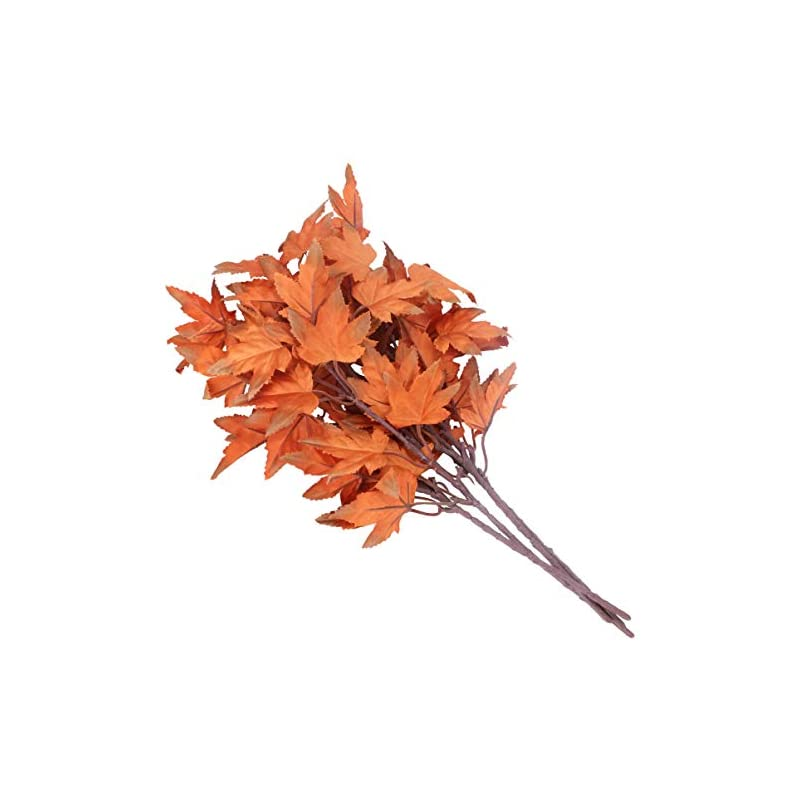 silk flower arrangements pretyzoom 4pcs artificial maple leaves branches autumn fall silk flowers faux plants thanksgiving table centerpiece for indoor outdoor decor