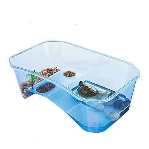 PETLAOO Turtle Tank Aquarium, Turtle Habitat, Reptile Habitat, Turtle basking Platform, Easy to Clean, (Blue) excluding Accessories
