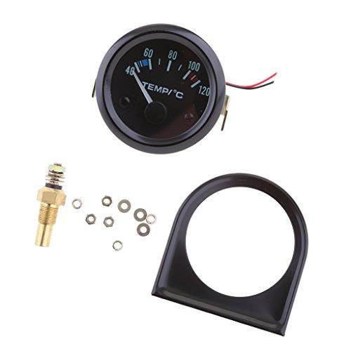 MagiDeal 52mm LED Medidor de Temperatura de Agua Soporte Sensor Indicador para Coche Universal