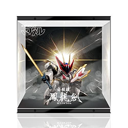 SUH Mil de Entrenamiento de Valor Demon Heroes Dragon King King Maru Mecha Modelo LED Modelo de Pantalla Hecho a Mano PVC Figura Modelo Caja de visualización (Color : Up and Down Light)