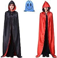 Myir Largo Capa con Capucha, Unisex Adulto Niños Disfraz de Halloween Fiesta Disfraces Vampiro Traje