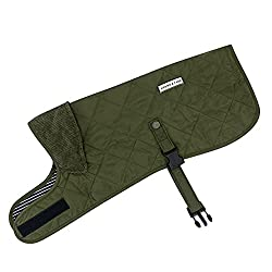 QUILTED JACKET – New to our Hound & Yard range is this quilted dog jacket in olive green. It's super smart and will give your dog that country look when out on walks with you. This quilted coat is a timeless classic and we've coupled it with a cordur...