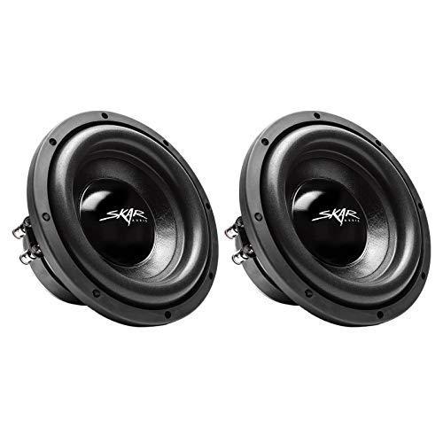 "(2) Skar Audio IX-8 D4 8"" 300W Max Power Dual 4 Ohm Car Subwoofers, Pair of 2"