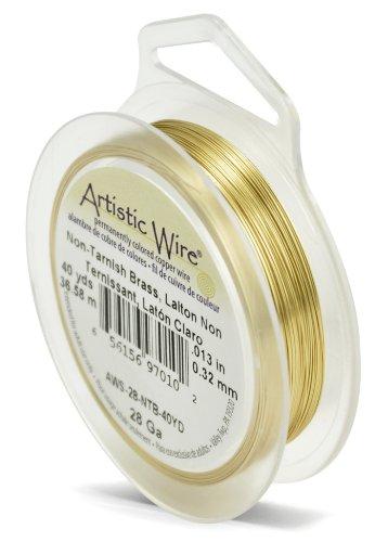 Artistic Wire Fil en Laiton Anti-ternissement Calibre 28 18 m