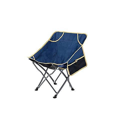 JXDD Leisure Outdoor Outdoor Chair Beach Camping Fishing Chair Folding Chair Ultra Light Portable (Dark Blue) 10-24