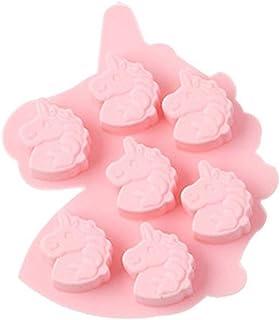 Ntribut 7 Cavidad Forma de Caballo de Silicona Molde de Pastel de Chocolate para Casas Herramientas