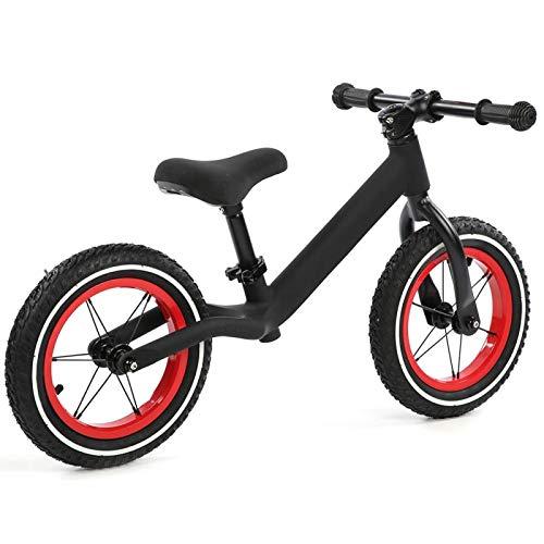Qqmora Bicicleta de Equilibrio de Metal Super Junior Bicicleta equilibrada para niños para Deportes al Aire Libre Ejercicio para niños Ejercicio(Black)