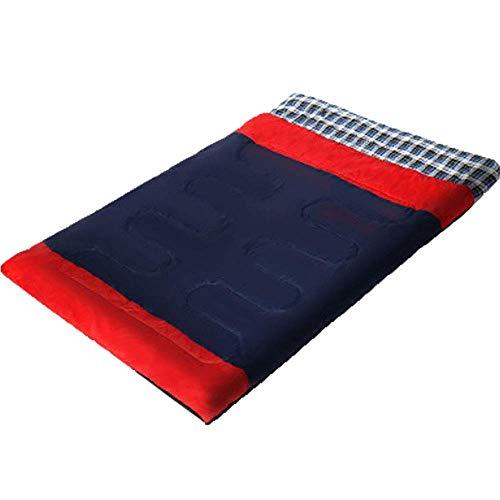 ZGYQGOO Double Sac de Couchage léger et Portable pour Adultes et Adolescents, randonnée, Camping, randonnée en Plein air