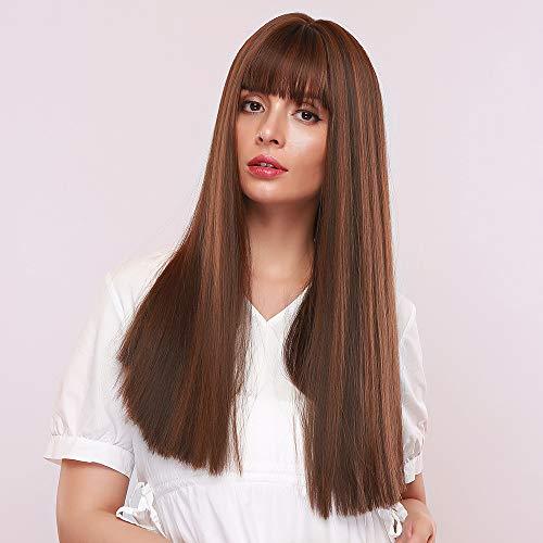 comprar pelucas mujer pelo natural balayage en internet