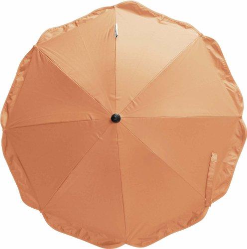 Playshoes 4010952271362 Sonnenschirm für Kinderwagen mit UV Schutz orange, 70 cm