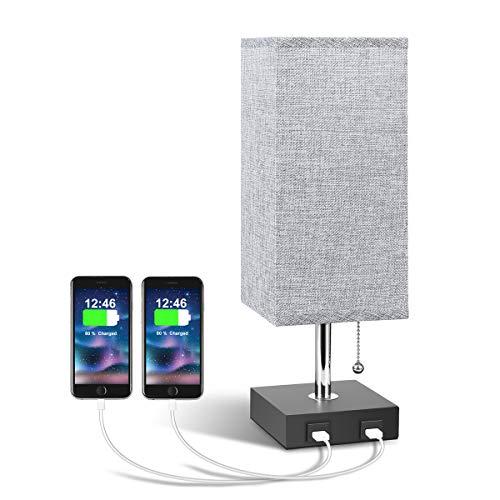 USB Bedside Table Lamp, Aooshine...