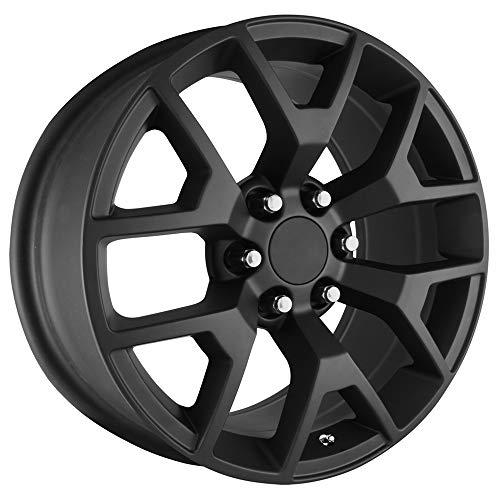 Topline Replicas V1176 2014 GMC Sierra Satin Black Wheel (24 x 10. inches /6 x 5 inches, 31 mm...