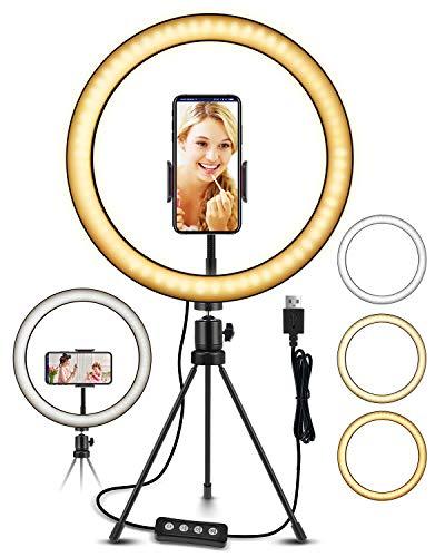 ELEGIANT Ring Light, 10.2' LED Ring Light Tripod Photo Video LED Lighting Kit, Adjustable Color Temperature 2700K-5500K, Light Stand, 11 Levels of Brightness for Tiktok Portrait YouTube Video, Makeup