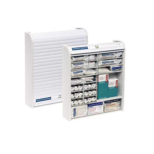 Holthaus Medical Verbandschrank Rollmed Betriebsverbandkasten Fächer Verbandkasten, befüllt erweiterte DIN 13157