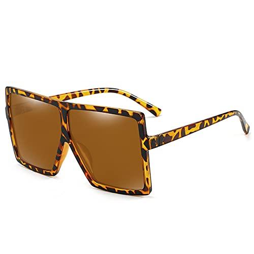 RSHJD Vintage Mujeres polarizadas Gafas de Sol de Moda Gafas de Sol Grandes Marco para protección UV,Verde