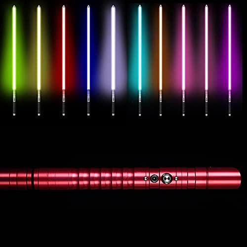 Sable De Luz Con Mango De Aleación De Aluminio, RGB 11 Colores Cambiables Con Sonido De 3 Modos, Star Wars Sonido Brillante Juguete De Regalo Cosplay Sable De Luz red