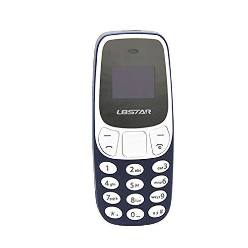 HaiQianXin Mini BM10 kleine GSM mobiele telefoon, Bluetooth, dual-kaart, MP3-speler, Bluetooth (kleur: blauw)