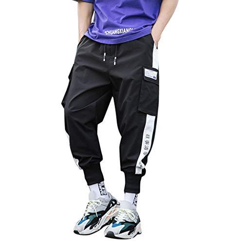 Pantalones Hombre Pantalón Casual para Hombre Moda Casual Trabajo Corta Pantalones Pants Jogging Deportivo Pantalon Fitness Chandal Hombre Pantalones de Playa riou