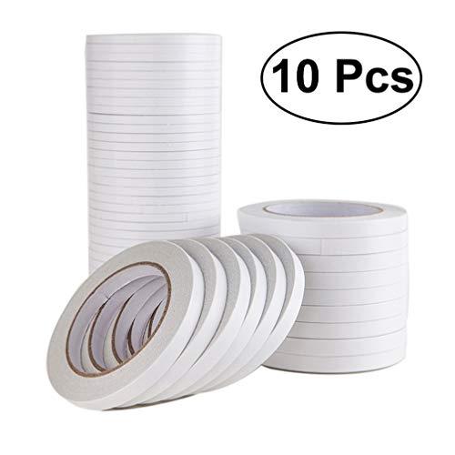 Artibetter Cinta adhesiva de doble cara 10pcs para hacer manualidades de fotografía scrapbooking