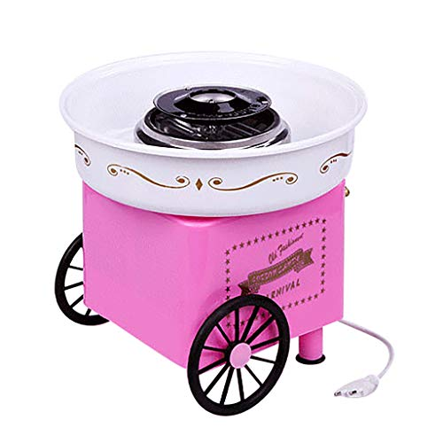 zxcvb zxcvb JK-1801 Cotton Candy Machine for Kids, Fashion Mini Cotton Candy Machine Perfect for Family Party (pink-1)