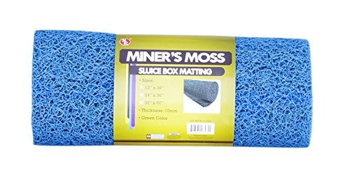 SE GP-MT415-3BL 12 x 36 Miner's Moss (Sluice Box Matting) in Blue by SE