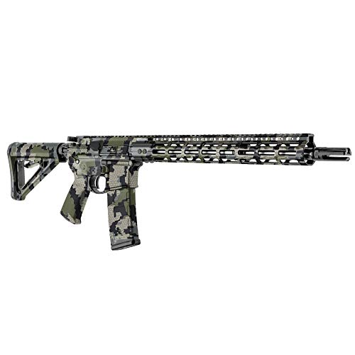 GunSkins AR-15 Rifle Skin - Premium Vinyl Gun Wrap with Precut Pieces - Easy to Install and Fits Any AR15 or M4-100% Waterproof Non-Reflective Matte Finish - Made in USA - Kuiu Verde 2.0