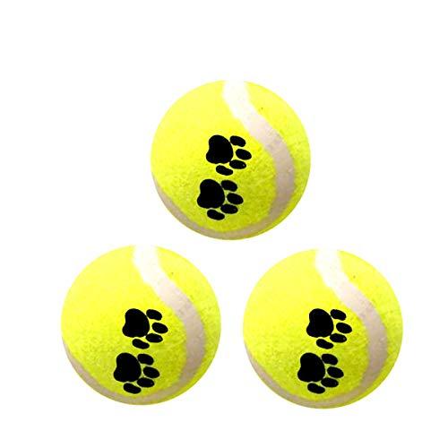 Eyourlife 3pcs Pelotas de Tenis de Juguete para Mascotas Bolas de Tenis...