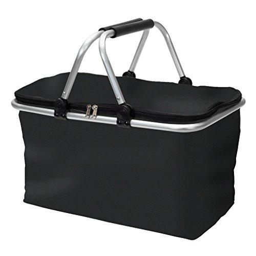 Amazinggirl Cesta Picnic Bolsas - Transportar cestas Compra Plegable Bolso Camping Comida plastico con Asas
