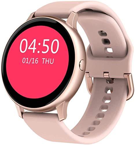 Reloj inteligente de 1,2 pulgadas, pantalla táctil completa, resistente al agua, IP67, reloj de fitness con monitor de ritmo cardíaco, podómetro, cronómetro, rastreador de fitness, color rosa