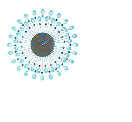 CivilWeaEU- Salle de Séjour Mur d'horloge Moderne Minimaliste Creative Watch Chambre Mode muet Table Suspendue Personnalisé Arts Décoratifs Horloge (Couleur : Bleu)