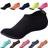 JACKSHIBO Herren Damen Barfuß Wasser Schuhe Unisex Aqua Shoes für Strand Schwimmen Surf Yoga...
