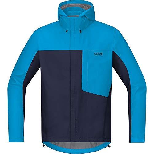 GORE WEAR Herren Fahrrad-Kapuzenjacke, C3, GORE-TEX PACLITE, L, Marineblau/Blau