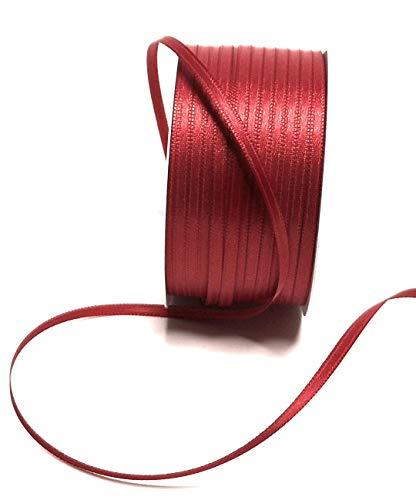 Konrad Arnold Satinband 50m x 3mm dunkelrot Kardinlarot rot Dekoband Geschenkband Schleifenband