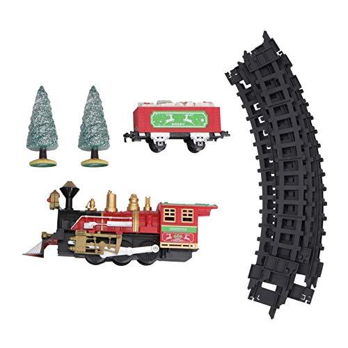 Siamrose 1 Conjunto de Juguetes de Tren de Navidad Pistas de ferrocarriles...