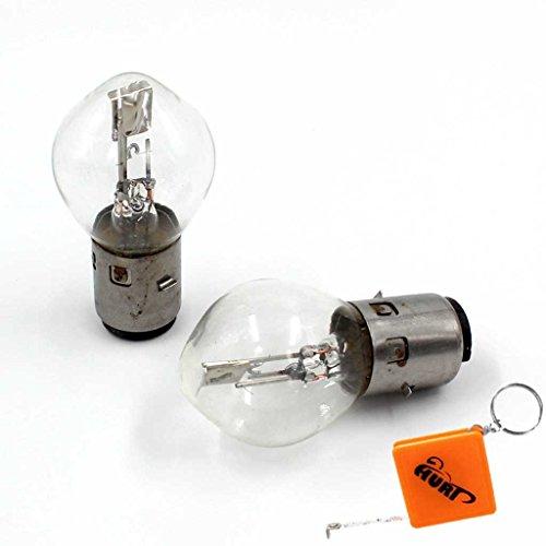 HURI 2 pièces 12V 35/35W BA20D Ampoule Lampe à culot ampoule incandescente Ampoule Phare Lampe Moto Roller