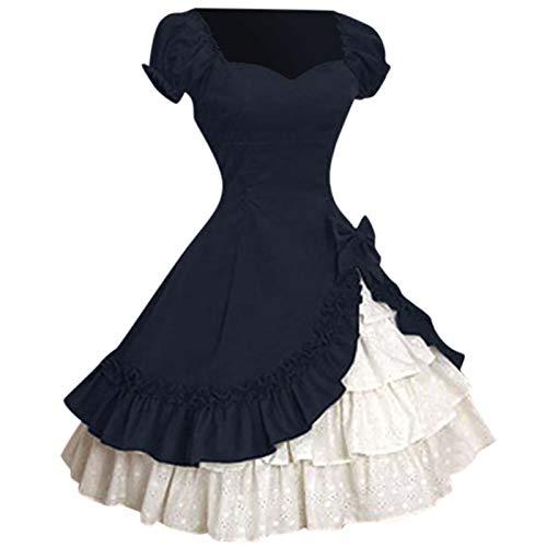 Vestido de verano para mujer, vintage, gótico, para pastel, falda de encaje, vestido de novia, vestido de baile, vestido de fiesta, vestido de cóctel