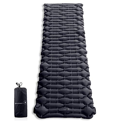 Greensummer Camping Sleeping Pad Best Sleeping Pads for Backpacking Hiking Air Mattress - Lightweight Inflatable & Compact Camp Sleep Pad - Inflatable Camping Mat for Backpackin