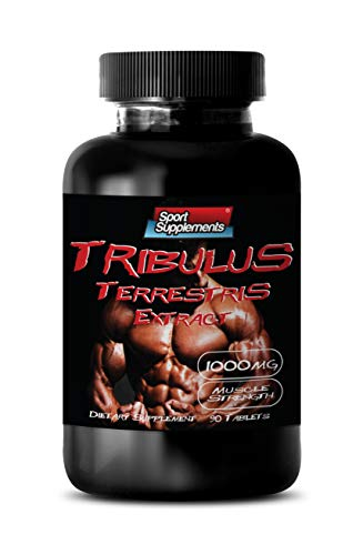 Testosterone Booster for Muscle Growth - TRIBULUS TERRESTRIS Extract 1000MG - Muscle Strength - Tribulus terrestris 1000 mg - 1 Bottle 60 Tablets