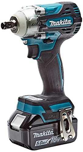 Makita DTW300RTJ 18V Li-ion LXT Brushless Impact Wrench Complete with 2 x 5.0 Ah Batteries and Charger Supplied in a Makpac Case