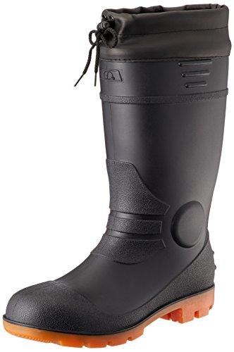 [ジーデージャパン] 安全長靴 ツヤ消し仕様 RB-716 カバー付き PVC製オール耐油 インジェクション式 ブラック 27cm