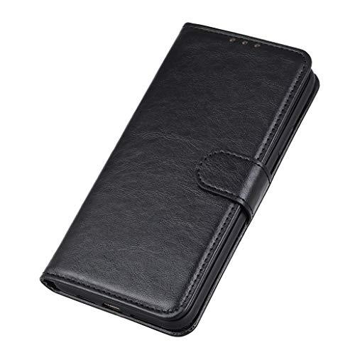 GOGME Hülle für Nokia 2.4, Premium Leder Flip Schutzhülle Magnetic Snap mit [Kartenfächer/Ständer Funktion] Brieftasche Handyhülle Stoßfest Hülle, Schwarz
