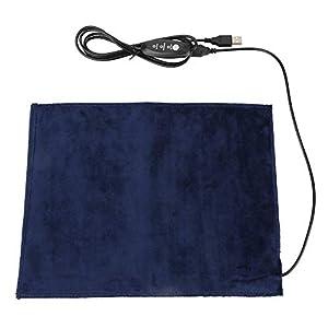 Almohadilla Calefactora USB 5V 2A Almohadilla Calefactora de Tela Eléctrica Elemento Calefactor para Abdomen Alfombrilla de Gato para Mascotas Lumbar, 45 ℃, 9.5 * 11.8 Pulgadas