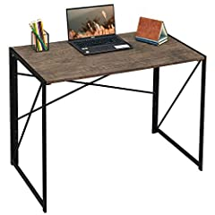 Coavas Computer Desk - SIMPLEST INSTALLATION - 8 seconds to complete ! Coavas Computer Desk-- FOLDING AND PORTABLE :When not in use can be folded in the corner, save space; Also convenient to carry when going out for a picnic. Coavas Computer Desk-- ...
