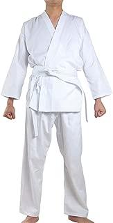 NAMAZU Karate Uniform for Kids and Adult, Lightweight Karate Gi Student Uniform with Belt for Martial Arts Training - White