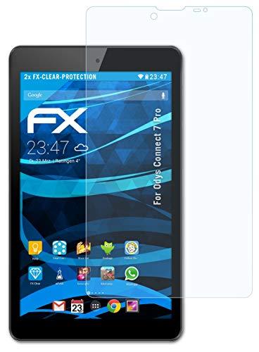 atFolix Schutzfolie kompatibel mit Odys Connect 7 Pro Folie, ultraklare FX Bildschirmschutzfolie (2X)