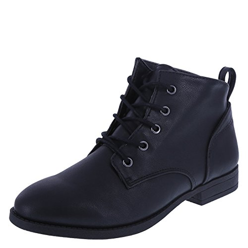 Lower East Side Women's Black Women's Sandi Desert Lace-Up Boot 12 Regular