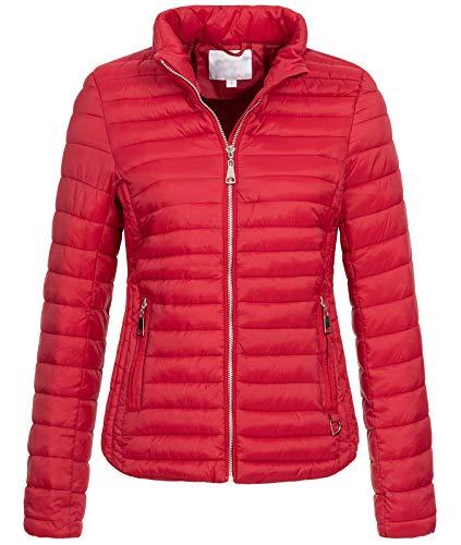 Rock Creek Damen Steppjacke Übergangsjacke Leicht Outdoorjacke Damenjacke Frauen Jacken Gesteppte Jacken Herbstjacke Jacke Weste D-427 Rot XS