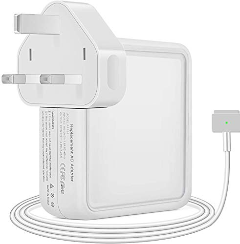 SUAMLAND Compatible With Mac Book Pro Charger, Replacement 85W Magnetic 2 power adapter For Mac Book 13' & 15' & 17' (2012Late UK Plug)