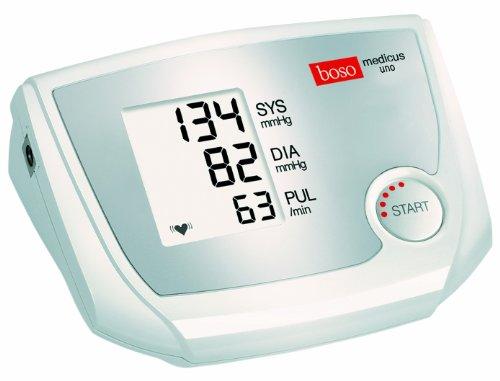 boso medicus uno – Oberarm-Blutdruckmessgerät mit Einknopfbedienung, großem Display und Arrhythmie-Erkennung – Inkl. Manschette (22-32cm)